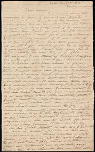 Incomplete letter from Deborah Weston, Boston, [Mass.], to Anne Warren Weston, Nov. 20th, 1838, Tuesday morning