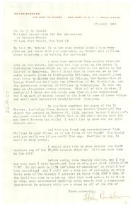 Letter from Helen Buckler to W. E. B. Du Bois