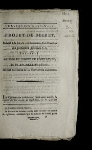 Projet de décret, relatif à la loi du 13 brumaire, sur l'évasion des personnes détenues : présenté au nom du Comité de législation