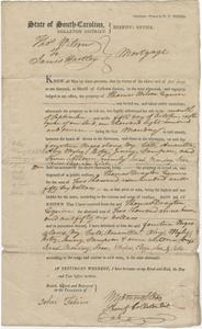 Bill of Sale for fourteen slaves to James Hartley of Colleton District, South Carolina, October 5, 1807