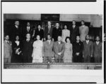 [NAACP workers posed, standing, at meeting to plan membership campaign]