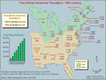 Free African American population, 19th century