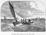 Escaping from Portsmouth, VA.; Escaping from Norfolk in Capt. Lee's skiff