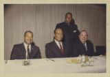Scene from banquet at Sherman House Hotel with Richard J. Daley