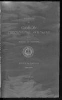 Bulletin of Gammon Theological Seminary and School of Missions Announcements 1933-1934, Vol. L
