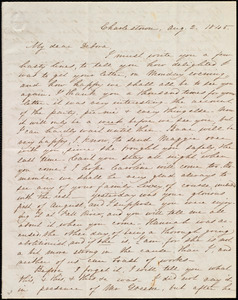 Letter from Abby Osgood, Charlestown, [Mass.], to Deborah Weston, Aug. 2, 1845