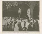 View of the lynching of Tom Shipp and Abe Smith at Marion, Indiana, August 7, 1930