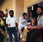 Berry Gordy and Judy Pace at his house party, Los Angeles