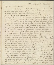 Letter to] My dear sister Mary [manuscript