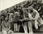 [Young women at outdoor sports event, probably football game at Griffith Stadium : black-and-white photoprint, probably ca. 1920-1930, print ca. 1970.]
