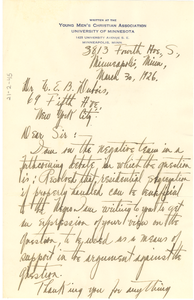Letter from Ferdinand Johnson to W. E. B. Du Bois