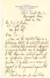 Letter from Ferdinand Johnson to W. E. B. Du Bois