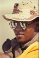 Frances Garrett of Lebanon, Tennessee serving in Saudi Arabia with the Tennessee National Guard, circa 1990 November 15