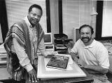 Dr. Molefi Asante and Mark Mattson pose with their book