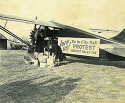 Sales Tax Protest Plane