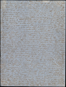 Letter from Anne Warren Weston, Weymouth, [Mass.], to Emma Forbes Weston, Sunday, Oct. 21, 1849