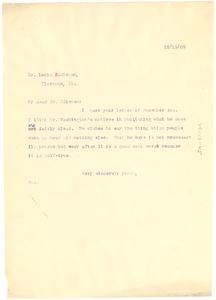 Letter from W. E. B. Du Bois to Louis Eddleman
