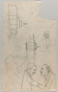 U.S. Capitol, The White House, Bearded Man, Dr. George Washington Carver and Franklin Delano Roosevelt, and Other Sketches
