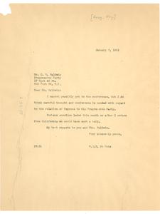 Letter from W. E. B. Du Bois to Progressive Party