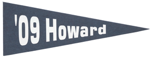 Pennant for Howard University class of 2009