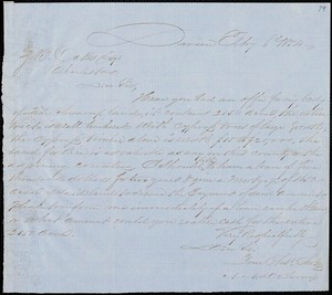 A.A. DeLorme, Darien, Ga., autograph letter signed to Ziba B. Oakes, 6 February 1854