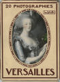 Althea Hurst scrapbook, 1938. Page 72. Versailles postcard set