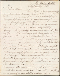 Letter from William Eaton, Charlotte, to Amos Augustus Phelps, Aug, 1. 1835