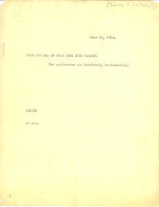 Letter from James C. Waters Jr. to May Childs Nerney
