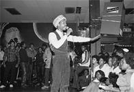 Grandmaster Caz of the Cold Crush Brothers at Harlem World, Easter 1981