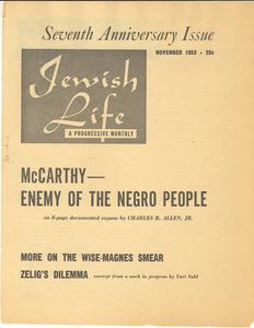 Jewish Life, volume three, number one Seventh anniversary issue
