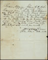 Charles B. Johnson correspondence, business records and receipts, 1841-1859
