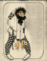 Costume design drawing, hunchback in checkered pants, Las Vegas, June 5, 1980