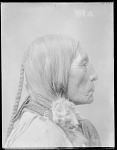 Chief Wolf Robe, side view. Oklahoma. U.S. Indian school 1904