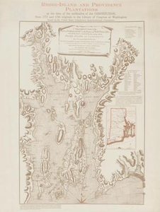 Thumbnail for Rhode-Island and Providence Plantations Rhode-Island at the time of the ratification of the Constitution, from 1777 and 1795 originals in the Library of Congress at Washington.