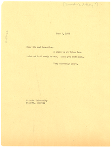 Letter from W. E. B. Du Bois to Ida and Ernestine Anthony