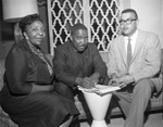 Church leaders sign documents, Los Angeles, 1961