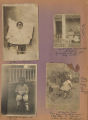 Four photographs of Inez Jesse Turner Baskin as a child in Florala, Alabama.