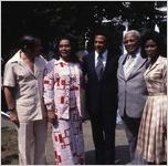 "Coretta Scott King and UN Ambassador Andrew Young visit the se of the mini-series ""King,"" 1977"