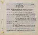Althea Hurst scrapbook, 1938. Page 01. Final itinerary, 6/20/38