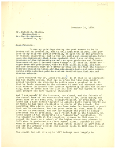 Letter from Edgar H. Webster to Butler R. Wilson and William B. Matthews