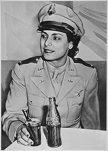 """Willa Beatrice Brown, a 31-year-old Negro American, serves her country by training pilots for the U.S. Army Air Forces. She is the first Negro woman to receive a commission as a lieutenant in the U.S. Civil Air Patrol."""