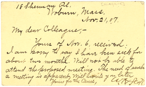 Postcard from W. H. Scott