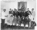 John Doyle Scholarship Recipients, Principal John Brewer making the awards, 25 August 1964, Center Avenue Branch YMCA, Pittsburgh, Pennsylvania.