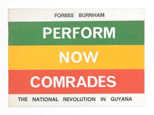Perform Now Comrades