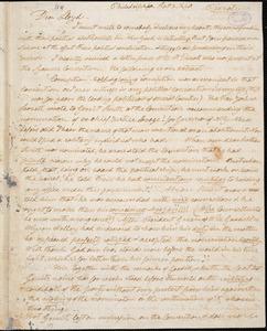 Letter from Henry Clarke Wright, Philadelphia, [Pennsylvania], to William Lloyd Garrison, 1840 Sept[ember] 8