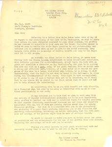 Letter from Cinema Lyceum to Emmett Scott