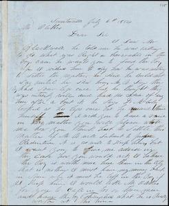 A. J. McElveen, Sumterville, S.C., autograph letter signed to Ziba B. Oakes, 6 July 1854