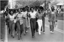 African American protest march in Cartersville, Georgia, September 22, 1980.