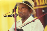 Albert Macon performing at the 1990 Alabama Folklife Festival in Birmingham, Alabama.