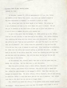 Statement by Mattie McTeer, January 23, 1978